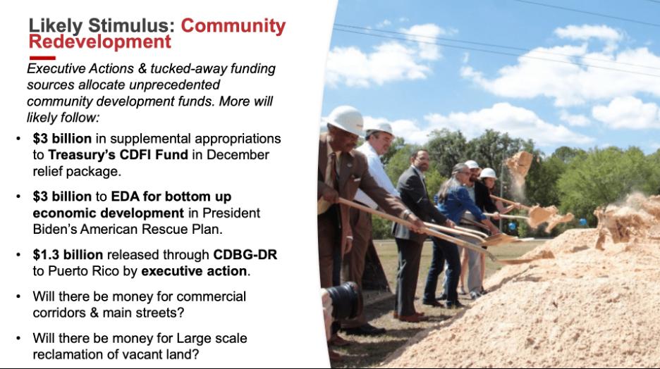 Katz Slide 4: Likely Stimulus-Community Redevelopment