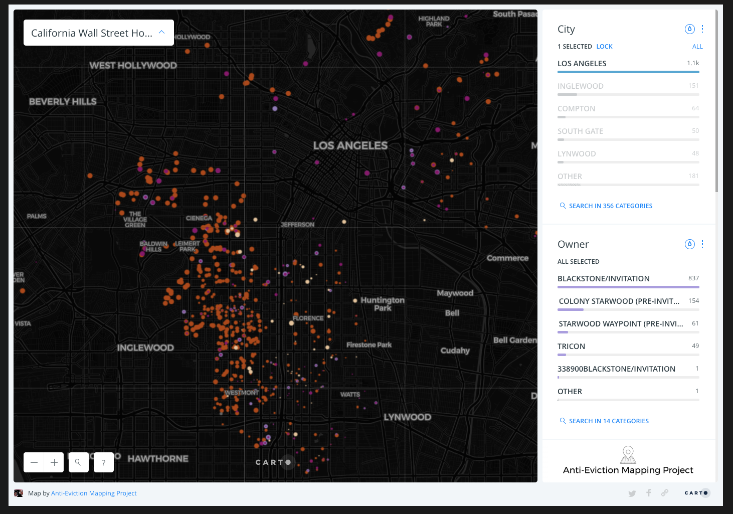Wall Street Landlords, Los Angeles - Anti-Eviction Mapping Project